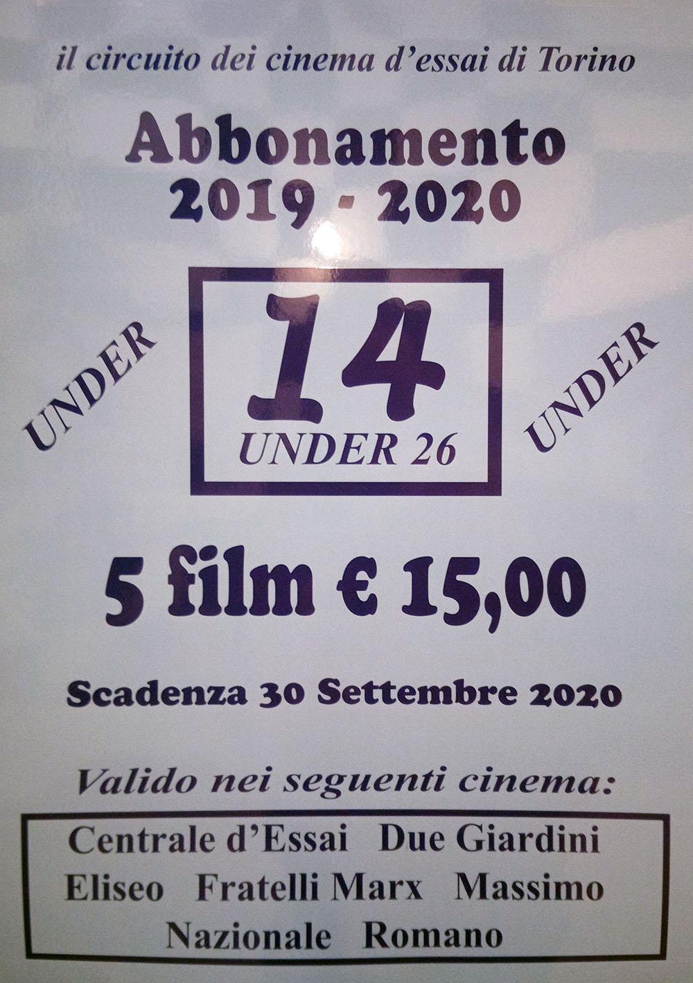 Abbonamento under 26